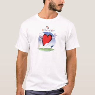 Camiseta Principais de Chicago e coração, fernandes tony