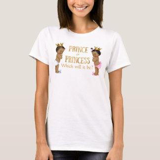 Camiseta Príncipe étnico princesa Género Revelação