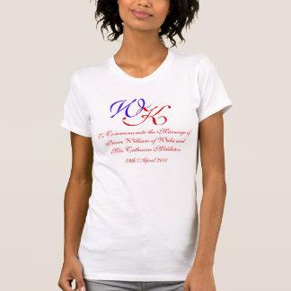 Camiseta Príncipe real William Kate Middleton do casamento
