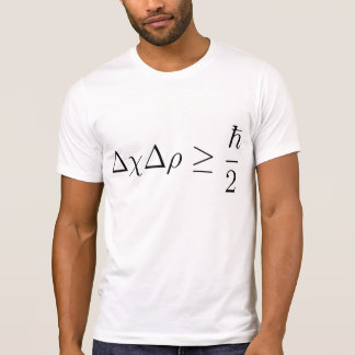 Camiseta Princípio de incerteza 2 de Heisenberg