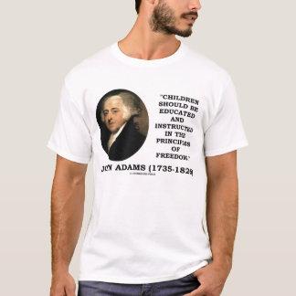 Camiseta Princípios educados das crianças de John Adams de