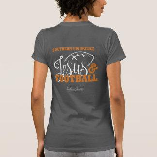 Camiseta Prioridades do sul: Jesus & t-shirt do futebol