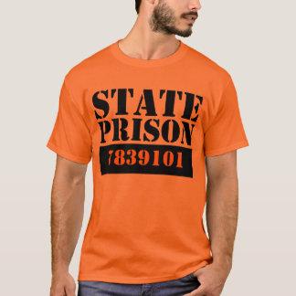 Camiseta Prisão estatal (adicione seu número)