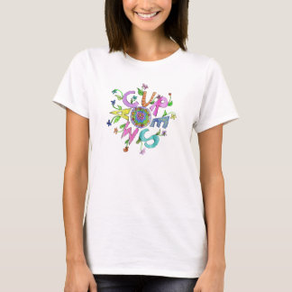 Camiseta Problema dobro da cura SMA flower power