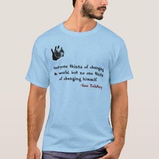 Camiseta Processo do pensamento de Tolstoy