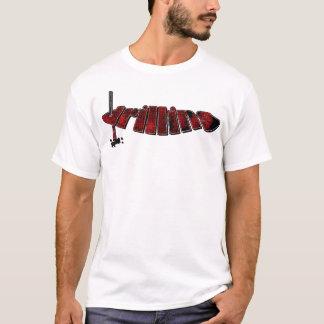 Camiseta Processo vermelho da perfuração