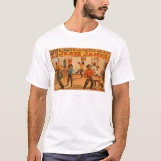 Camiseta Produção espectacular ocidental de Jesse James
