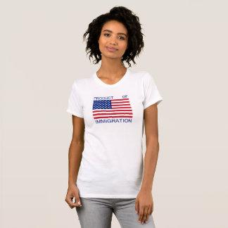 Camiseta Produto do t-shirt da imigração