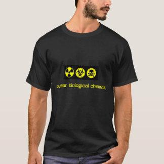 Camiseta produto químico biológico nuclear