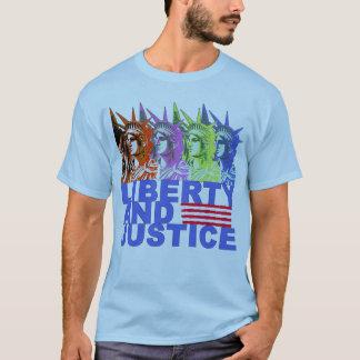 Camiseta Produtos da estátua da liberdade do pop art