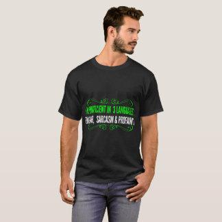 Camiseta Profanidade inglesa proficienta do sarcasmo de 3