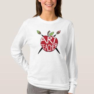 Camiseta Professor de arte Apple & escovas de pintura
