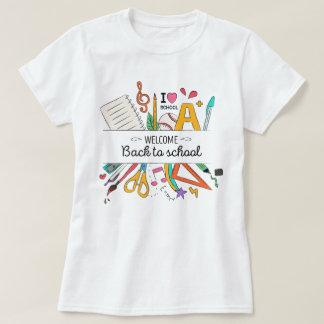 Camiseta Professor de volta à escola, primeiro dia da