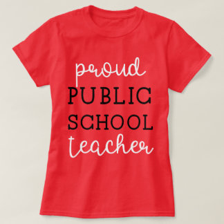 Camiseta Professor público orgulhoso