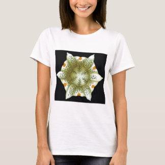 Camiseta profundidade da flor branca