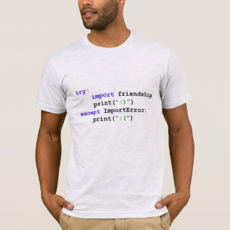 Camiseta Programa do pitão: Deixe-nos ser amigos