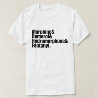 Camiseta Progressão da dor - anestesia