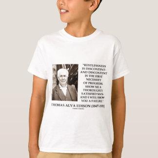 Camiseta Progresso do descontentamento do desassossego de