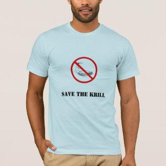 Camiseta proiba a baleia, salvar o Krill