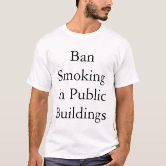 Camiseta Proibição que fuma em lugares públicos