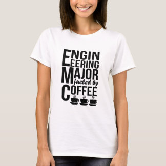 Camiseta Projetando principal abastecido pelo café