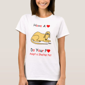 Camiseta Promoção do salvamento do cão do abrigo para