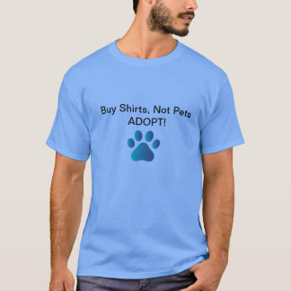 Camiseta Promova as adopções animais