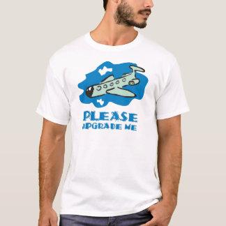 Camiseta Promova-me por favor à classe executiva no plano