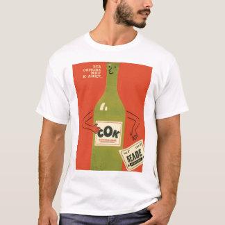 Camiseta Propaganda do Anti-Álcool do russo