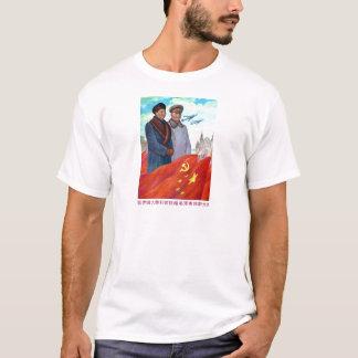 Camiseta Propaganda original Mao Zedong e Josef Stalin