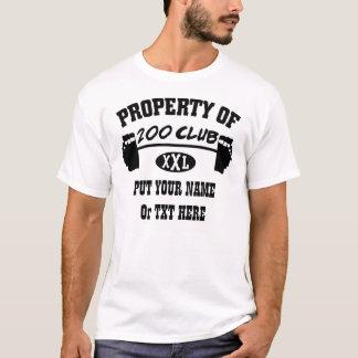 Camiseta Propriedade 200 do TShirt do clube XXL