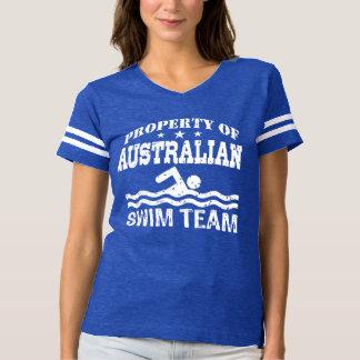 Camiseta propriedade da equipe de natação australiana