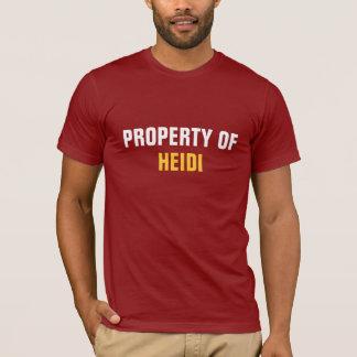 Camiseta Propriedade de Heidi