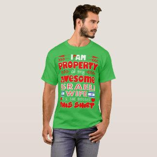 Camiseta Propriedade de minha esposa israelita