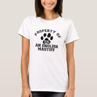 Camiseta Propriedade de um Mastiff inglês