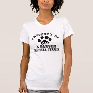 Camiseta Propriedade de um Parson Russell Terrier