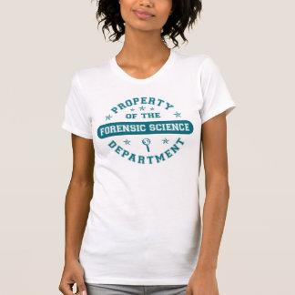 Camiseta Propriedade do departamento da ciência forense