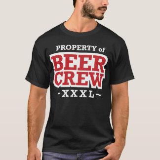 Camiseta Propriedade do grupo da cerveja - branco e