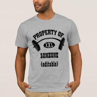 Camiseta Propriedade do TShirt cabido XXL (adicione seu