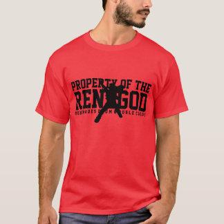 """Camiseta """"PROPRIEDADE t-shirt vermelho do RENEGOD"""""""