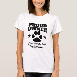 Camiseta Proprietário orgulhoso Fox Terrier do brinquedo do
