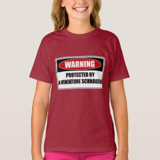 Camiseta Protegido por um Schnauzer diminuto