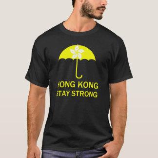 Camiseta Protestos fortes da revolução do guarda-chuva da