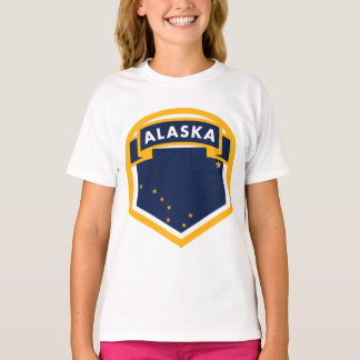 Camiseta Protetor da bandeira do estado de Alaska AK