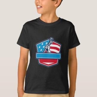 Camiseta Protetor da bandeira dos EUA da chave de tubulação