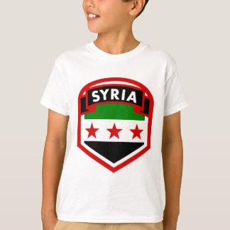 Camiseta Protetor da crista da bandeira de Syria
