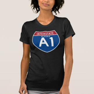 Camiseta Protetor da estrada nacional de Alaska AK I-A1 -