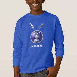Camiseta Protetor e lanças de Maccabee
