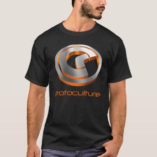 Camiseta Protoculture (Trance): laranja 3D metálica (preto)
