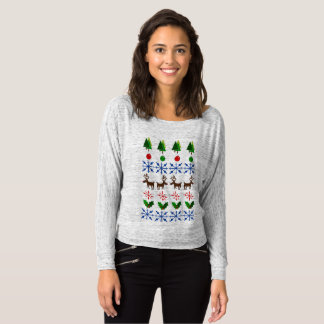 Camiseta Prova final feia da camisola do Natal na senhora